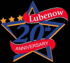 Lubenow 20 year anniversary emblem