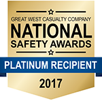 Lubenow Companies Receives Platinum National Safety Awards