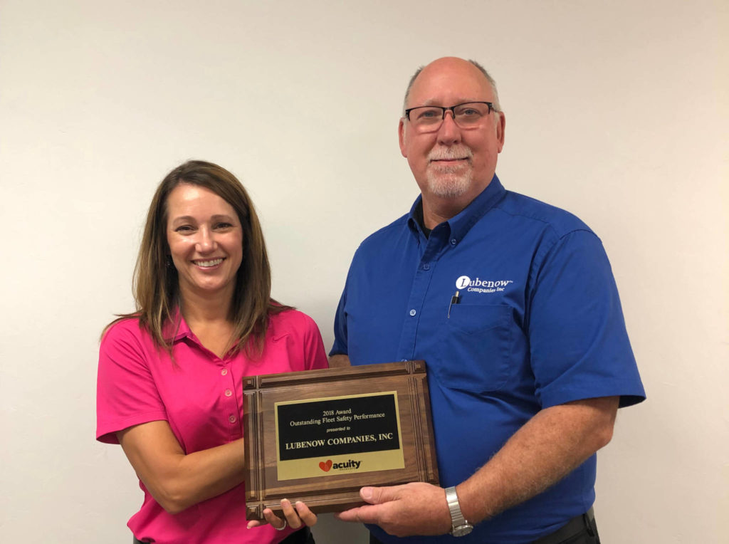 Lubenow Companies Inc receives safety award