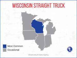 Wisconsin Straight Truck Map Coverage